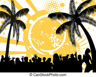 Tropical party  background