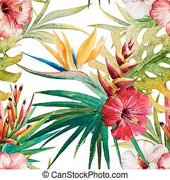 Tropical pattern - Beautiful vector pattern with nice ...