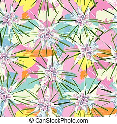 Tropical pattern multicolor background