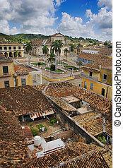 tropical, pueblo, trinidad, cuba