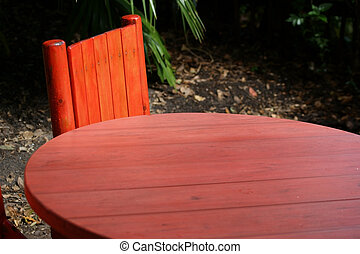 Tropical Red Table Background - Tropical red table...