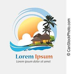 Tropical resort - Logo for tropical resort, hotel, cottage,...
