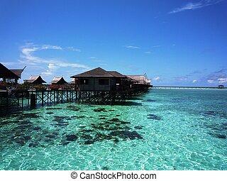 Tropical resort in Malaysia