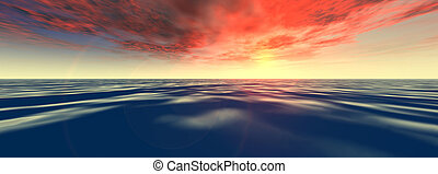 Tropical Sea - Digitally created ocean scenery.
