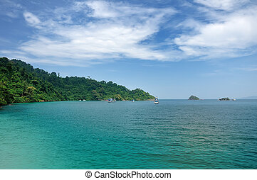 Tropical sea landscape. Chang Island, Thailand.
