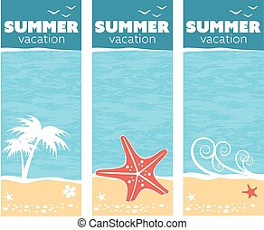 tropical sea summer vacation banner design