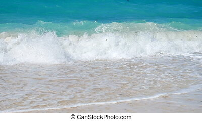 Tropical seacoast stock footage - Tropical sea surf, very...