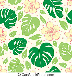 tropical seamless floral background