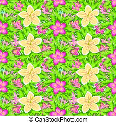 Tropical seamless pattern, vector illustration