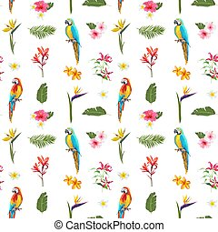 Tropical Seamless Vector Floral Summer Pattern. For...