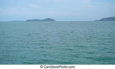 Tropical seascape, Phuket - Pan of Bay of Rawai in Phuket,...