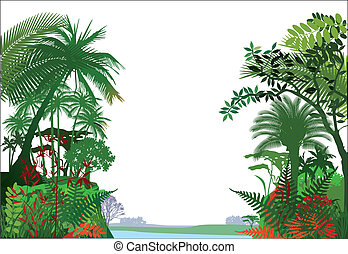 tropical, selva, rainforest