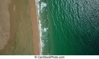 Tropical shoreline from air - Aerial shot from drone of...