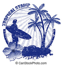 Tropical stamp