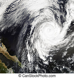 Tropical Storm Rosa. Elements of this image are furnished by NASA