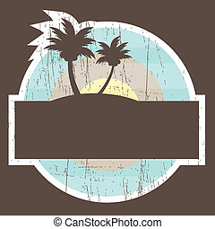 tropical strand, banner