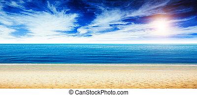 tropical strand, och, ocean