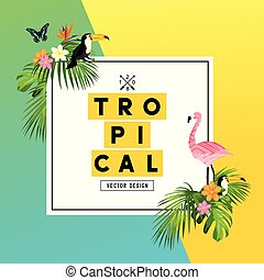 Tropical Summer Rainforest Background