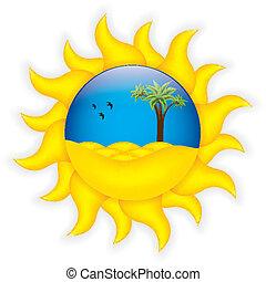 Tropical summer symbol