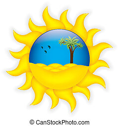 Tropical summer symbol.Vector