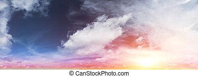 Tropical sunrise. Art summer background