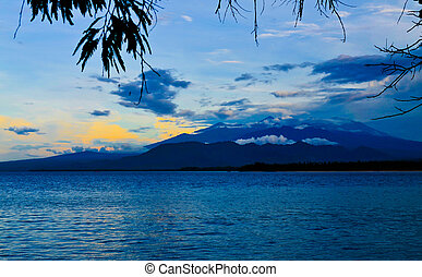 Tropical sunset on Gili Air