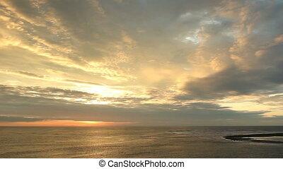 Tropical sunset  - over the Pacific Ocean, Ecuador