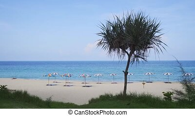Tropical Surin Beach from an Elevated Perspective. Video...