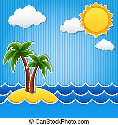 tropical sziget