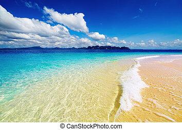 tropical tengerpart, thaiföld