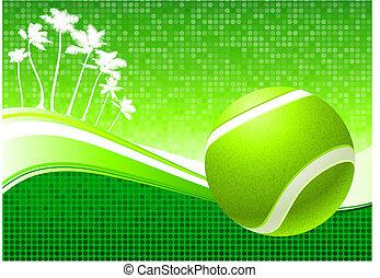 tropical, tenis, resumen, pelota, plano de fondo