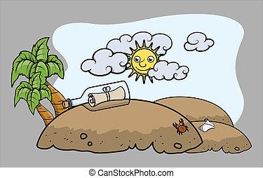 Tropical Treasure Island - Cartoon