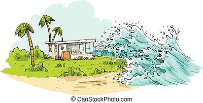 tropical, tsunami
