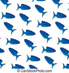 tropical tuna fish animal background
