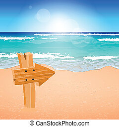Tropical Vector Beach