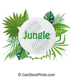 vector cartoon empty tropical rainforest jungle background vector