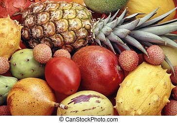 tropical, vegetales, fruits