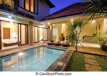 Tropical Villa With a Pool. - Tropical villa with a pool....