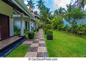 Tropical villas and garden