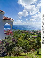 Luxurious tropical villas overlooking the Caribbean Sea