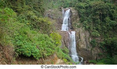 Tropical waterfall in Sri Lanka - Video 1920x1080 - Tropical...