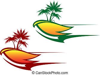 tropicale, astratto, fondo
