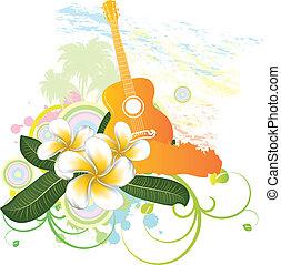 tropicale, chitarra, fondo