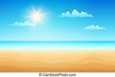 tropicale, day., spiaggia, soleggiato