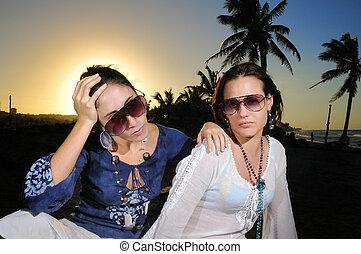 tropicale, estate, moda
