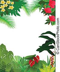 tropicale, fondo, foresta pluviale