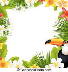 tropicale, frangipani, cornice