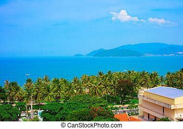 tropicale, Isole, paesaggio, mare, baia