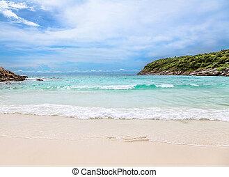 tropicale, koh, spiaggia., thailand., racha.