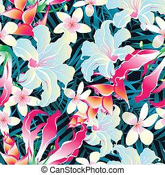 tropicale, modello, seamless, colorito